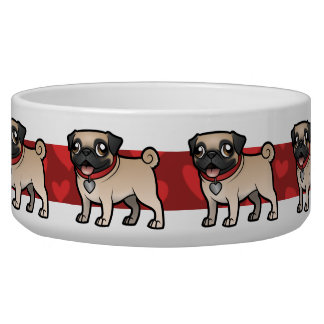 Cartoonize My Pet Dog Food Bowl