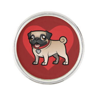 Cartoonize My Pet Lapel Pin