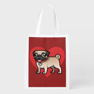 Cartoonize My Pet Reusable Grocery Bag