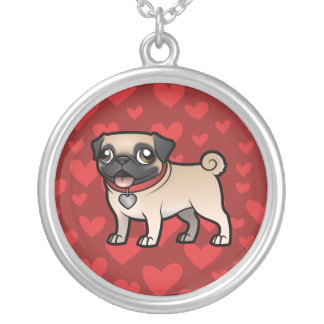 Cartoonize My Pet Silver Plated Necklace