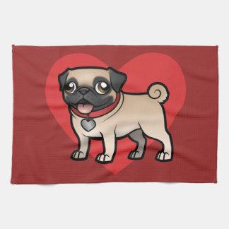 Cartoonize My Pet Tea Towel