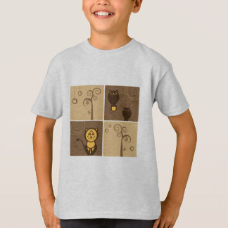Cartoons Animals Design Tee Shirt