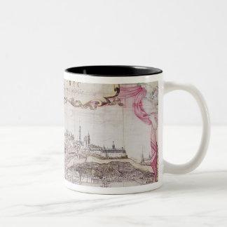 Cartouche of Quebec Two-Tone Coffee Mug