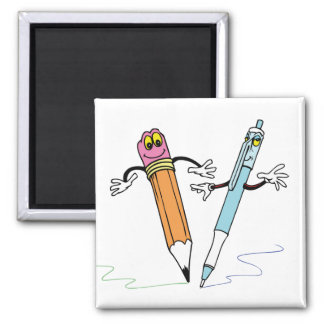 Cartton kids objects 5, Cartton kids objects 3 Square Magnet