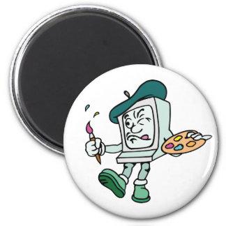 Cartton kids objects 9 6 cm round magnet