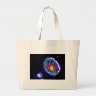 Cartwheel Galaxy Canvas Bag