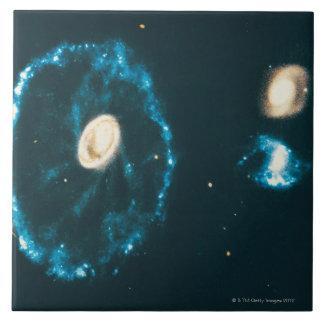 Cartwheel Galaxy Large Square Tile
