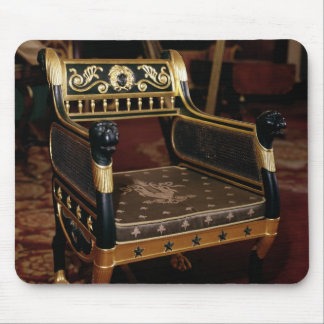 Carved armchair with gilt details mouse mat