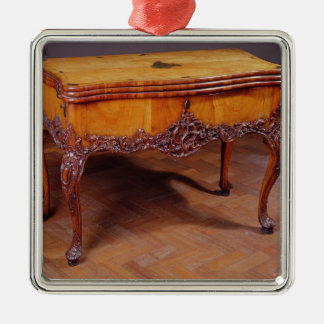 Carved card or games table christmas ornament