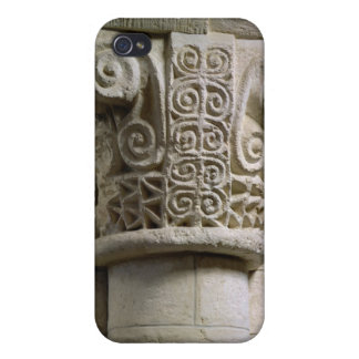 Carved column decorated with croziers and spirals cover for iPhone 4