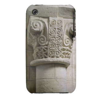 Carved column decorated with croziers and spirals iPhone 3 Case-Mate cases