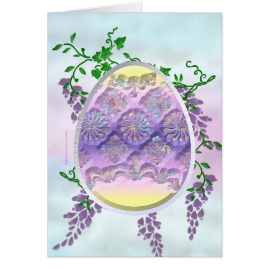 Carved Easter Egg Card