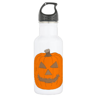 Carved Halloween Pumpkin Pop Art Image 532 Ml Water Bottle