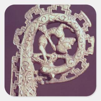 Carved handle of a bishop s crook bone sticker