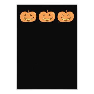 Carved Happy Pumpkin. Halloween. Card