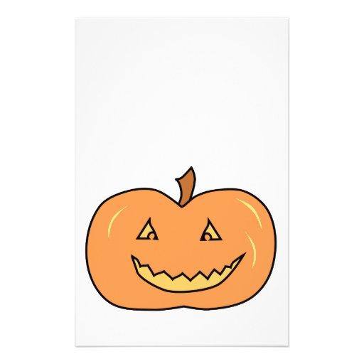 Carved Happy Pumpkin. Halloween. Flyers