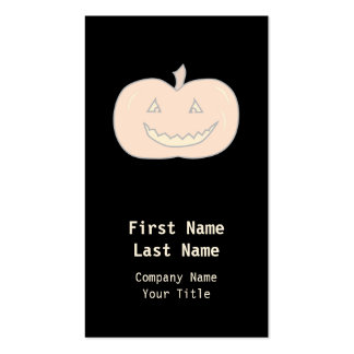 Carved Happy Pumpkin, Pale Colors. Halloween. Business Cards