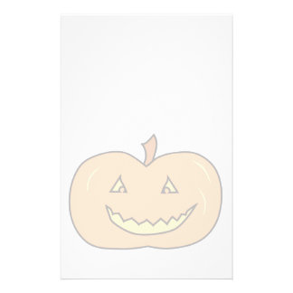 Carved Happy Pumpkin, Pale Colors. Halloween. Flyer