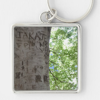 Carved in a Tree Central Park Nature Photography Key Ring