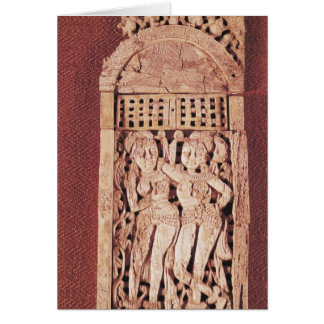 Carved Indian plaque Card