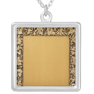 Carved ivory plaque from Fatimid, Egypt Silver Plated Necklace