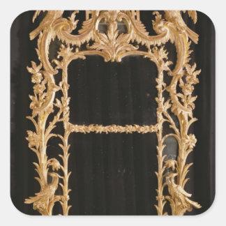 Carved mirror, c.1760 square sticker