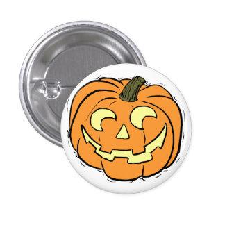 Carved Pumpkin Face 3 Cm Round Badge