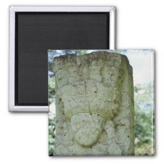 Carved Rock Sculpture Ancient Mayan Ruins Honduras Magnet