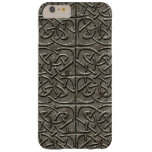 Carved Stone Connected Ovals Celtic Pattern