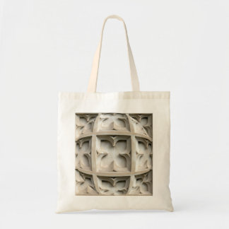 Carved stone panel budget tote bag