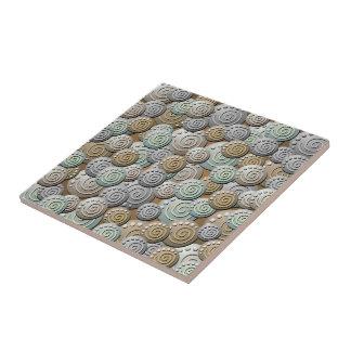 Carved Stones Pattern Ceramic Tile