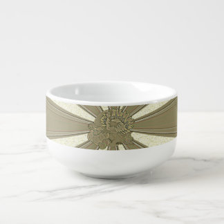 Carved Thanksgiving Turkey - Soup Bowl With Handle