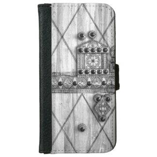 Carved Wood Door Tribal Arabia Wallet case