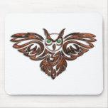 Carved Wood Horned Owl