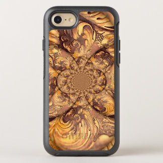 Carved Wood Optical Illusion Brown Honey Neutral OtterBox Symmetry iPhone 7 Case