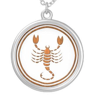 Carved Wood Scorpio Zodiac Symbol Custom Jewelry