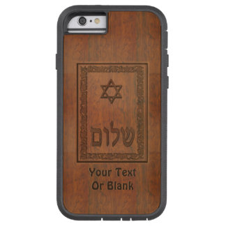 Carved Wood Shalom Tough Xtreme iPhone 6 Case