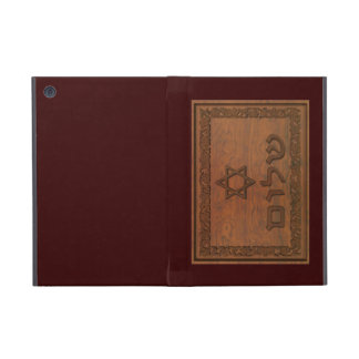 Carved Wood Shalom iPad Mini Covers