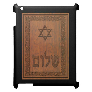 Carved Wood Shalom Case For The iPad 2 3 4
