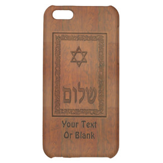Carved Wood Shalom Case For iPhone 5C