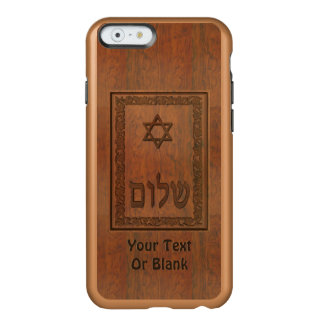 Carved Wood Shalom Incipio Feather® Shine iPhone 6 Case