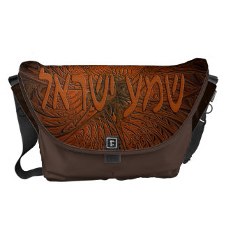Carved Wood Shema Yisrael Courier Bags