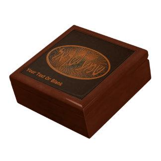 Carved Wood Shema Yisrael Large Square Gift Box