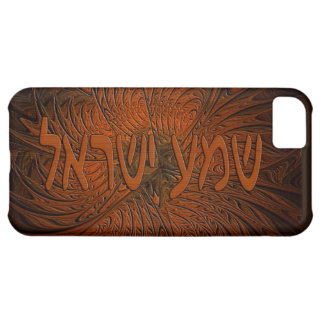 Carved Wood Shema Yisrael iPhone 5C Case