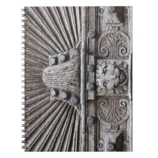 Carved Wooden Door Look Notebook