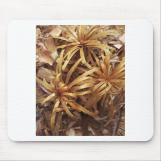carved wooden flowers mouse pad