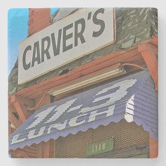 Carver's, Atlanta Marble Stone Coaster. Stone Beverage Coaster
