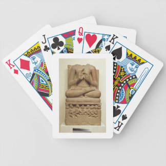 Carving of Buddha in the attitude of preaching a s Poker Deck