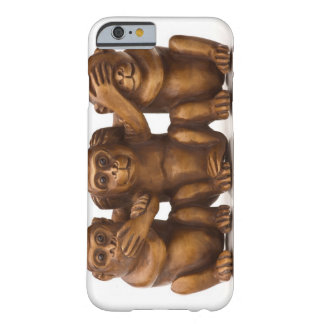 Carving of three wooden monkeys barely there iPhone 6 case