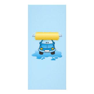 Carwash cartoon rack card design